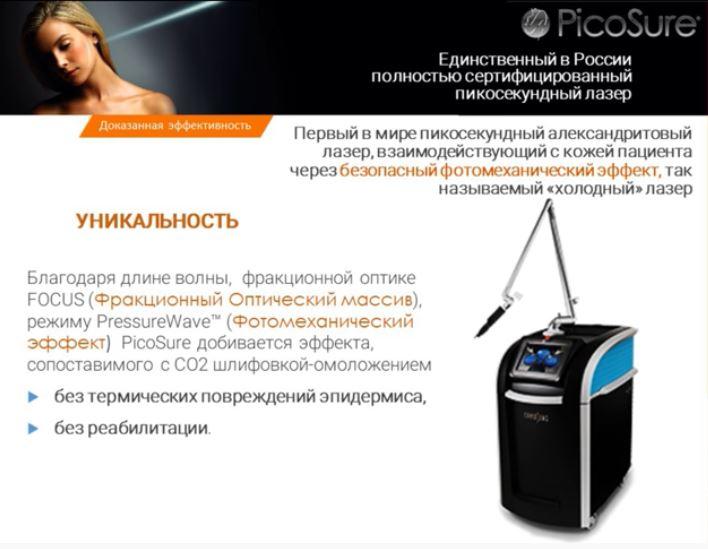 Пикосекундный лазер Picosure