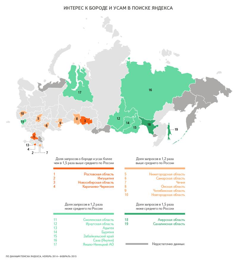 Запросы по регионам России